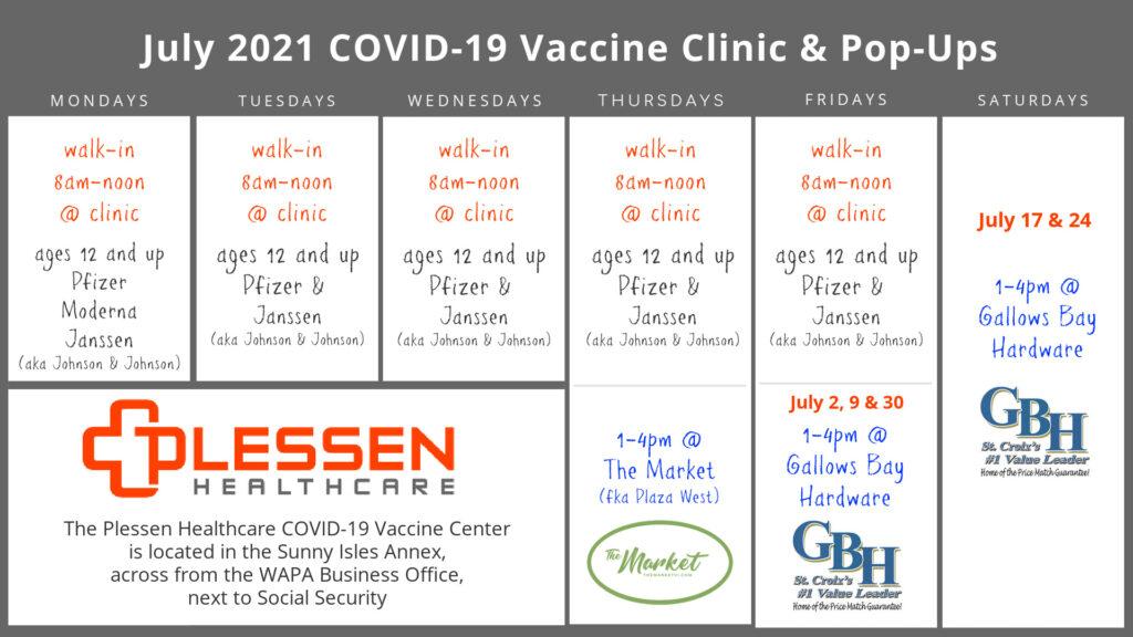 July COVID-`19 Vaccine Calendar
